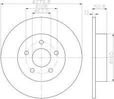 Комплект тормозных дисков TEXTAR 92238903 (2 шт.)