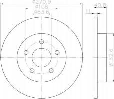 Комплект тормозных дисков TEXTAR 92239003 (2 шт.)