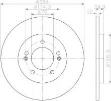 Комплект тормозных дисков TEXTAR 92239103 (2 шт.)