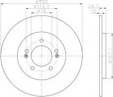 Комплект тормозных дисков TEXTAR 92239203 (2 шт.)