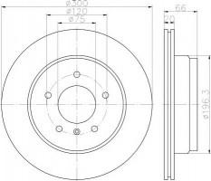 Комплект тормозных дисков TEXTAR 92239703 (2 шт.)