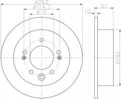 Комплект тормозных дисков TEXTAR 92240803 (2 шт.)