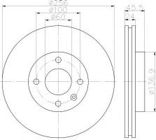 Комплект тормозных дисков TEXTAR 92241400 (2 шт.)