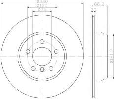 Комплект тормозных дисков TEXTAR 92241903 (2 шт.)