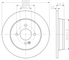 Комплект тормозных дисков TEXTAR 92242203 (2 шт.)