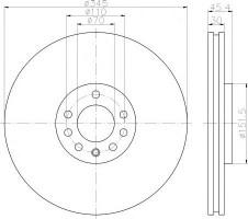 Комплект тормозных дисков TEXTAR 92242403 (2 шт.)