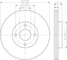 Комплект тормозных дисков TEXTAR 92252403 (2 шт.)