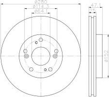 Комплект тормозных дисков TEXTAR 92252503 (2 шт.)