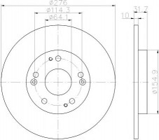 Комплект тормозных дисков TEXTAR 92252603 (2 шт.)