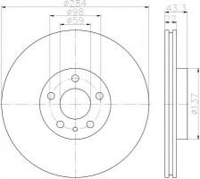 Комплект тормозных дисков TEXTAR 92252803 (2 шт.)