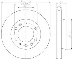 Комплект тормозных дисков TEXTAR 92253403 (2 шт.)