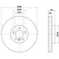 Комплект тормозных дисков TEXTAR 92253703 (2 шт.)