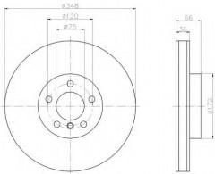 Комплект тормозных дисков TEXTAR 92253803 (2 шт.)