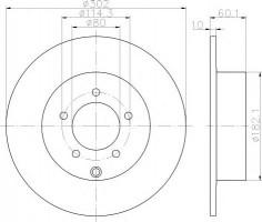 Комплект тормозных дисков TEXTAR 92255103 (2 шт.)