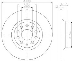 Комплект тормозных дисков TEXTAR 92255403 (2 шт.)