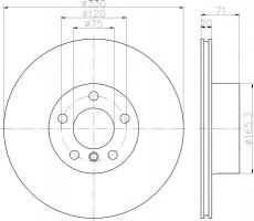 Комплект тормозных дисков TEXTAR 92256303 (2 шт.)