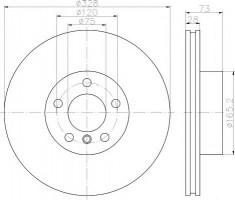 Комплект тормозных дисков TEXTAR 92257103 (2 шт.)