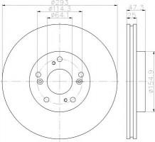 Комплект тормозных дисков TEXTAR 92257303 (2 шт.)