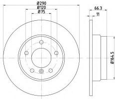 Комплект тормозных дисков TEXTAR 92261003 (2 шт.)