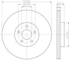 Комплект тормозных дисков TEXTAR 92262203 (2 шт.)
