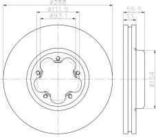 Комплект тормозных дисков TEXTAR 93260600 (2 шт.)
