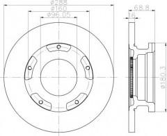 Комплект тормозных дисков TEXTAR 93260700 (2 шт.)