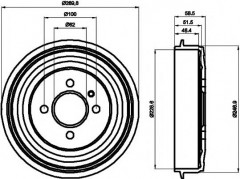 Тормозной барабан TEXTAR 94009300