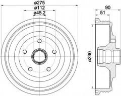 Тормозной барабан TEXTAR 94012700
