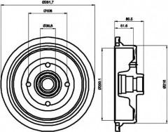 Тормозной барабан TEXTAR 94012800