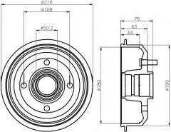 Тормозной барабан TEXTAR 94012900