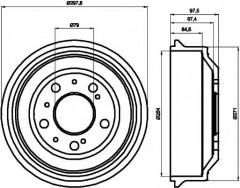 Тормозной барабан TEXTAR 94014600