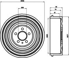 Тормозной барабан TEXTAR 94015000