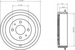 Тормозной барабан TEXTAR 94019900