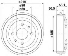 Тормозной барабан TEXTAR 94020000