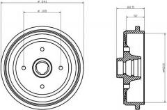 Тормозной барабан TEXTAR 94020500