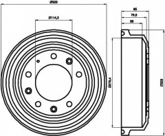 Тормозной барабан TEXTAR 94021800
