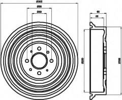 Тормозной барабан TEXTAR 94021900