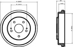 Тормозной барабан TEXTAR 94023000