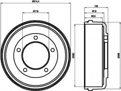 Тормозной барабан TEXTAR 94024600
