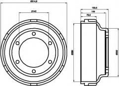 Тормозной барабан TEXTAR 94024800