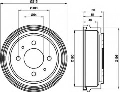Тормозной барабан TEXTAR 94025900