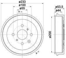 Тормозной барабан TEXTAR 94026500
