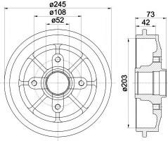 Тормозной барабан TEXTAR 94026600