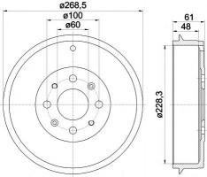 Тормозной барабан TEXTAR 94027200