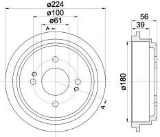 Тормозной барабан TEXTAR 94028000