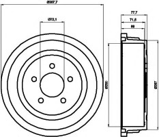 Тормозной барабан TEXTAR 94028100
