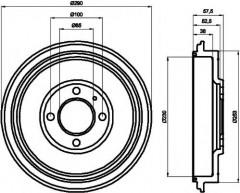 Тормозной барабан TEXTAR 94029500