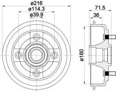 Тормозной барабан TEXTAR 94030200