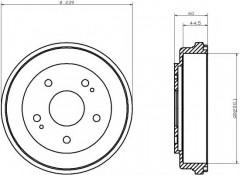 Тормозной барабан TEXTAR 94031700