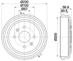 Тормозной барабан TEXTAR 94032100